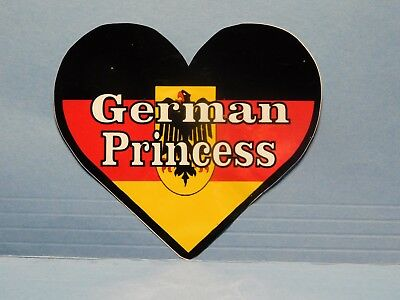 "Germany Flag Heart ""German Princess"" Vinyl Window Car Tattoo Decal Sticker 4"""
