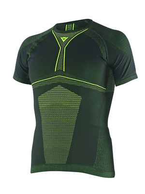 Dainese D-Core Dry Tee - Blk/F.Yel - L
