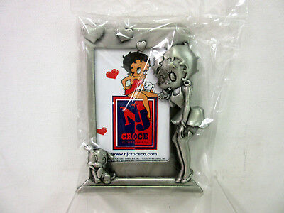 """New Betty Boop With Pudgy Pewter Picture Frame For 2 x 3"""" Photo NIB #PF904"""