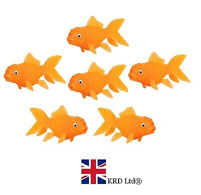 6 x GOLD FISH SQUIRTS Kids Birthday Party Bag Filler Squirter Water Bath Toy UK