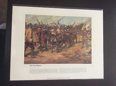 The National Guard Heritage Collectible Print The First Muster 1637