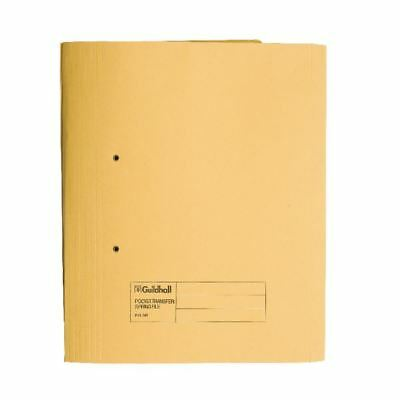 Guildhall Yellow Foolscap Heavyweight Pocket Spiral File (Pack of 25)  [GH23036]