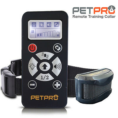 PetPro Remote Dog Training Collar & Automatic Bark Control 800M Range Waterproof
