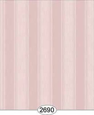 Dollhouse Miniature 1:12 Scale Wallpaper Rose Hill Stripe Pink