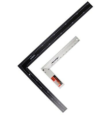 """Squares 24"""" 610mm & 12"""" 305mm Steel Builders Carpenters Roofing Right Angle"""