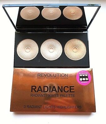 Makeup Revolution Highlighter Palette 3 Baked Radiance New (858)