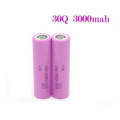 For Samsung 30Q 18650 2x 3000mAh 15A Rechargeable Li-ion Battery HIGH DRAIN New