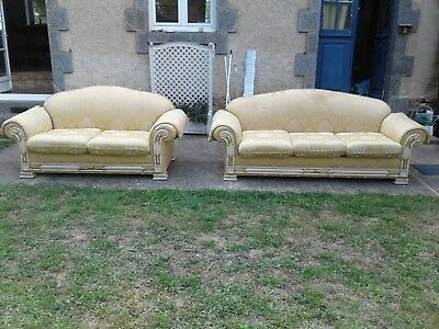 French antique vintage Louis Philippe style matching sofas