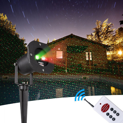 Garden Projector Decoration Lights Static Red Green Stars Show IP65 Waterproof