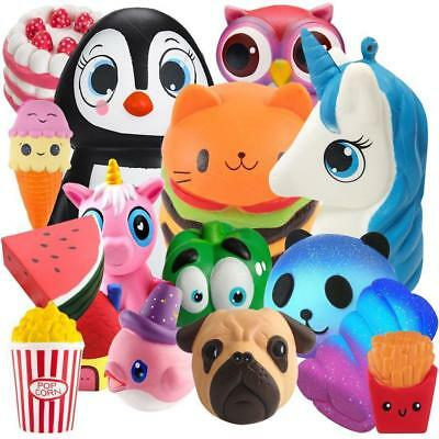 Jumbo Slow Rising Squishies Scented Squishy Squeeze Toy Reliever Stress Gift Lot