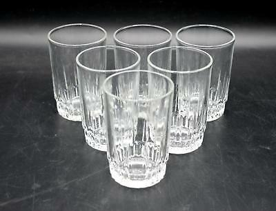 Set of 6 Arcoroc France Lancer Pattern Juice Glasses