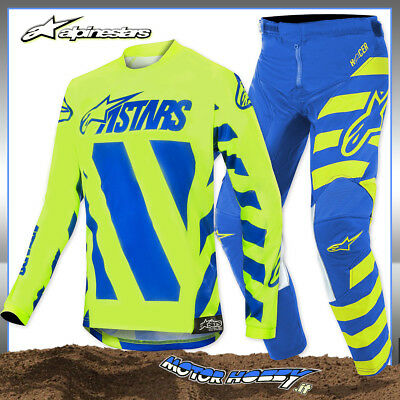 Completo Youth Bambino Alpinestars Racer Braap 2019 Giallo Fluo Blu  L - 26