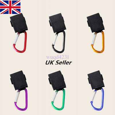 2X Large Buggy Clips Coloured Pram Pushchair Shopping Bag Hook Mummy Carry Clip