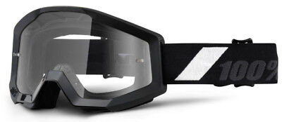 100% STRATA MX Motocross Cross Enduro Downhill Offroad Brille Goliath klar black