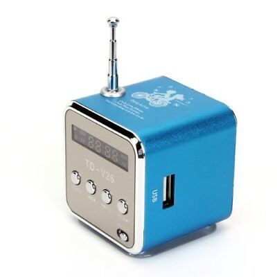 Mini Digital Portable Radio & Music Player (TDV26) USB,SD - Free P&P Worldwide!