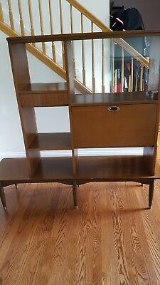 Mid Century Room Divider >> Mid Century Room Divider Wall Unit With Bar Mainline By Hooker