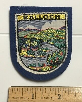 Balloch Loch Lomond Scotland UK Scottish Souvenir Woven Felt Patch Badge