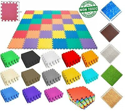 30cm Baby Crawling Puzzle Mat Soft EVA Foam Kids Play Carpet Home Floor Blanket