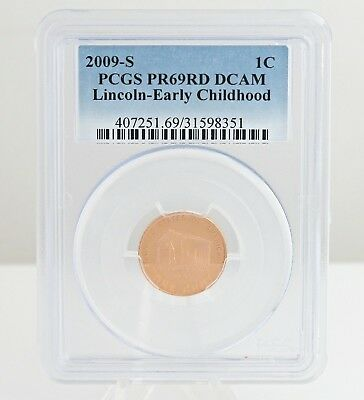 2009 S Lincoln Early Childhood Penny 1 Cent US Coin Cameo Proof PCGS PR69RD DCAM