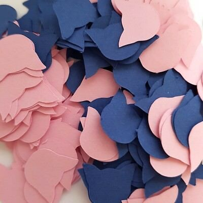 Pigs Pink and Blue Card Decoration Confetti Bag (15g)