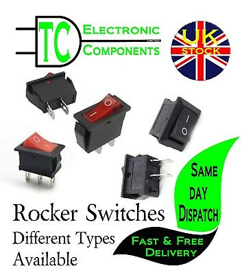 3A 6A 16A Rocker Switches SPST/SPDT with/without Neon Different types available