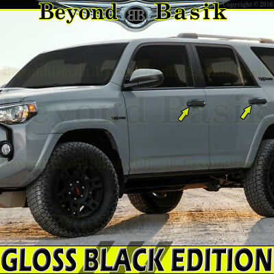 2010-2018 TOYOTA 4Runner GLOSS BLACK Door Handle COVERS Overlays Trims