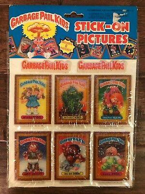 1986 Imperial Topps GARBAGE PAIL KIDS Stick-On Pictures PUFFY STICKERS #6, NEW!