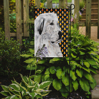 Great Pyrenees Candy Corn Halloween Flag Garden Size