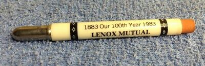 Vintage Lenox Mutual Insurance Assn. Norway, Iowa  Advertising Bullet Pencil