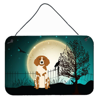 Halloween Scary Brittany Spaniel Wall or Door Hanging Prints