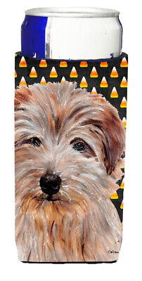 Norfolk Terrier Candy Corn Halloween Ultra Beverage Insulators for slim cans