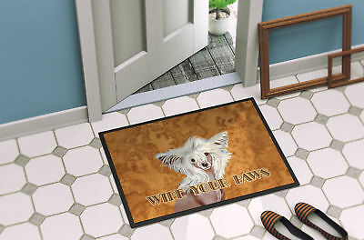 Chinese Crested Wipe your Paws Indoor or Outdoor Mat 24x36