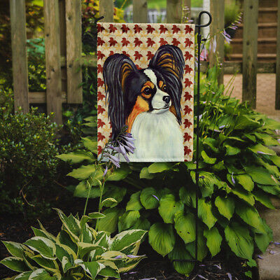 Carolines Treasures  LH9120GF Papillon Fall Leaves Portrait Flag Garden Size