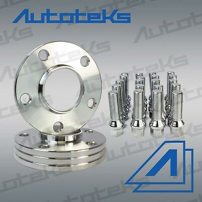 4x Hub Centric BMW 5x120 10mm Wheel Spacers Conical Bolts Includes E36 E46 E90