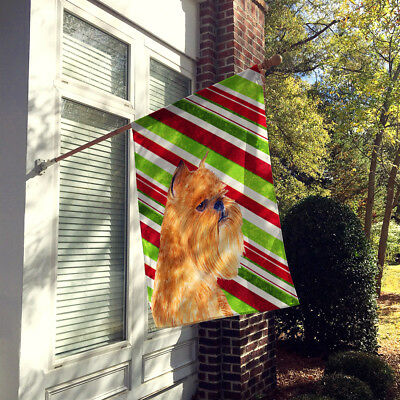 Brussels Griffon Candy Cane Holiday Christmas Flag Canvas House Size