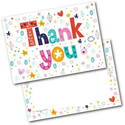 Thank You Cards Thankyou Postcards Letters Pack Of 20 Cards