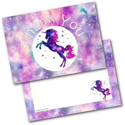 Thank You Cards Thankyou Postcards Unicorn Pack of 20 Cards & Envelopes