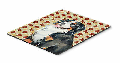 Bernese Mountain Dog Fall Leaves Portrait Mouse Pad, Hot Pad or Trivet