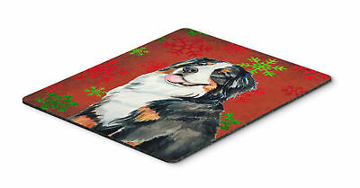 Bernese Mountain Dog Red Snowflakes Christmas Mouse Pad, Hot Pad or Trivet