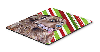 Newfoundland Candy Cane Holiday Christmas Mouse Pad, Hot Pad or Trivet