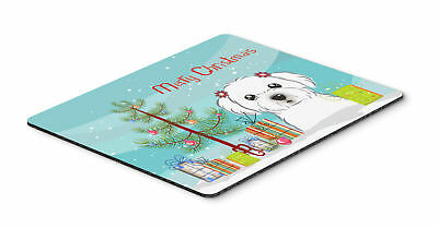 Christmas Tree and Maltese Mouse Pad, Hot Pad or Trivet