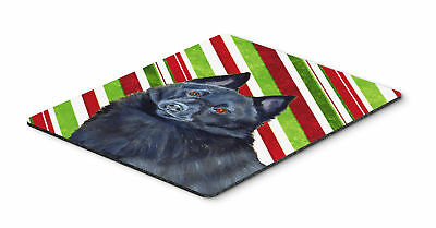 Schipperke Candy Cane Holiday Christmas Mouse Pad, Hot Pad or Trivet