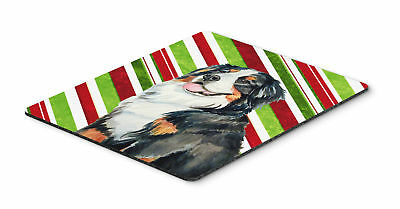 Bernese Mountain Dog Candy Cane Holiday Christmas Mouse Pad, Hot Pad or Trivet