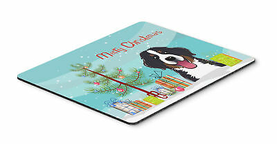Christmas Tree and Bernese Mountain Dog Mouse Pad, Hot Pad or Trivet