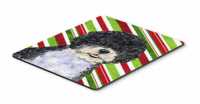 Portuguese Water Dog Candy Cane Holiday Christmas Mouse Pad, Hot Pad or Trivet