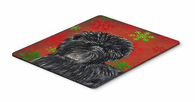 Affenpinscher Snowflakes Holiday Christmas Mouse Pad, Hot Pad or Trivet