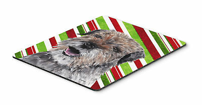 Border Terrier Candy Cane Christmas Mouse Pad, Hot Pad or Trivet