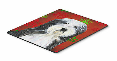 Bearded Collie Snowflakes Holiday Christmas Mouse Pad, Hot Pad or Trivet