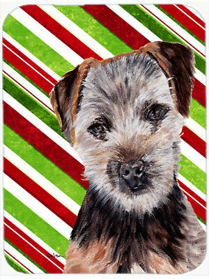 Norfolk Terrier Puppy Candy Cane Christmas Mouse Pad, Hot Pad or Trivet