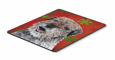Border Terrier Red Snowflake Christmas Mouse Pad, Hot Pad or Trivet